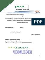 Internship Report on Pakistan Telecommunication Company Ltd
