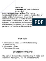 Media and Literacy Information Ppt. Eng13