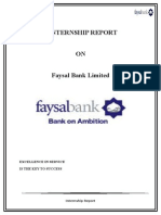 Internship Report on Faysal Bank Limited