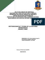 Monografia de Historiografia. Profesor Carlos Sanchez Caparroz.