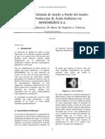 Obtencion de Dioxido de Azufre
