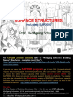 Surface Structures, including SAP2000 (rev. ed.), Wolfgang Schueller