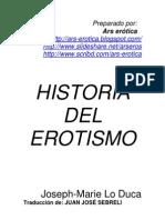 Joseph lo Duca. Historia del erotismo.