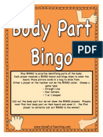 Body Part Bingo Activity