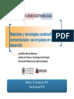 Conferencia Cátedra Cemex Materiales No Convencional