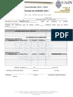 Formato Preinscripcion VERANO 2015