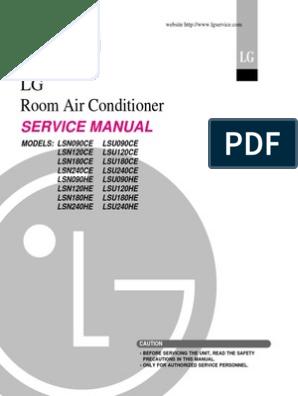 LG LSN-LSU service manual pdf | Electrical Wiring | Hvac