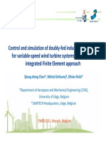 Control and simulation of doubly‐fed induction generator for variable‐speed wind turbine systems based on an integrated Finite Element approach