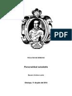 trabajo de investigacion acerca de la personalidad saludable y transtornos emocionales