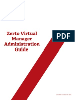 Zerto Virtual Manager Administration Guide