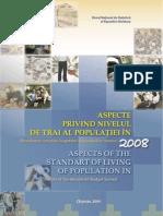 ASPECTE PRIVIND NIVELUL DE TRAI AL POPULAŢIEI ÎN 2008