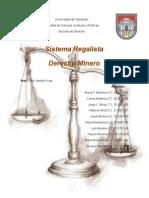Derecho Minero Sistema Regalista