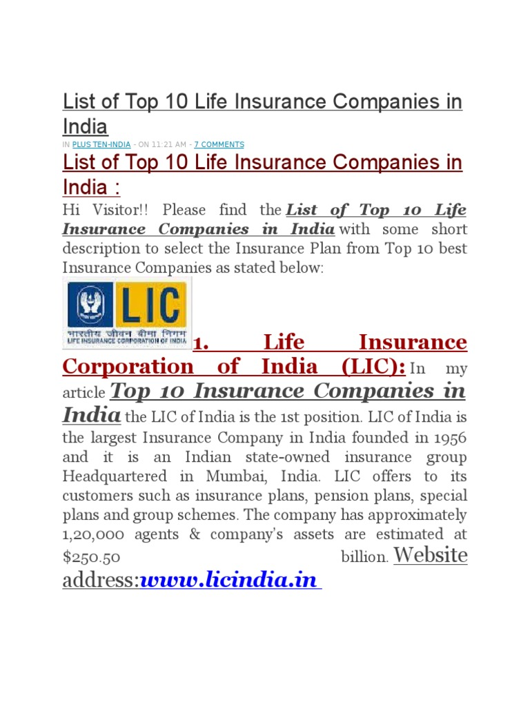 Top Ten Life Insurance Companies >> Assg 1 Insurance Prudential Financial