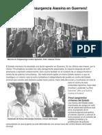 ¡Alto a la Contrainsurgencia Asesina en Guerrero!