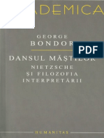George Bondor.-Dansul măștilor _ Nietzsche și filozofia interpretării-Humanitas (2008)
