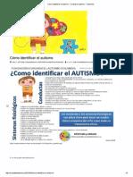 Como Identificar El Autismo