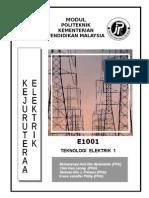 E1001 Teknologi Elektrik 1 UNIT