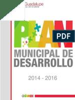 Programa de desarrollo urbano de guadalupe 2013-2016