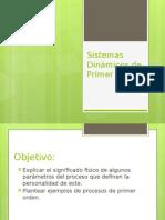 Sistemas Dinámicos de Primer Orden ESIQ-1