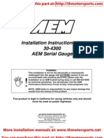 AEM Serial Guage Installation Instructions 30-4300