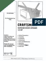 Craftsmen Garage Door Opener Manual