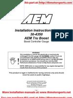 AEM Installation Instructions 30-4350