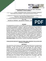 ESTERILIZAÇÃO E ENGARRAFAMENTO DE CALDO DE CANA