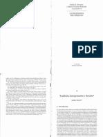 Tontti, J. Tradición, Interpretación y Derecho