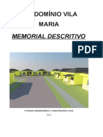 Memorial Descritivo Vila Maria