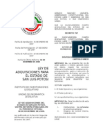 Ley de Adquisiciones San Luis Potosi 2008