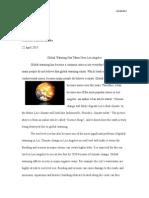 English 114b Global Warming Essay