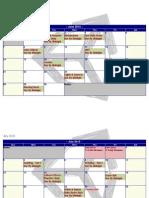 2015 Summer Calendar VGD 121