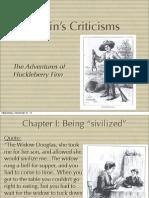 Huck Finn Criticisms