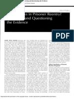What Works in Prisoner Reentry