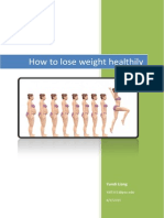 how to lose weight healthily