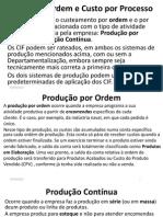 Blocos 15 a 17 Custo Por Ordem, Processo, Padrão, Estimados, Controláveis, Não Controláveis