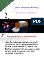 1. Introduction Farmakoepidemiology