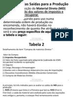 Criterios de Avaliação de Estoque e Departamentalização Blocos 7 a 9
