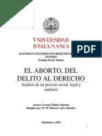 Trabajo Sobre El Aborto.