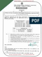 JNTUA B.pharmacy Exam Time Table [Www.jntuanantapur.info]