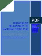Histografia Millonarios vs a Nacional.
