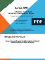Definisi Manusia Dalam Islam; Gejala Psikis pada Manusia Normal