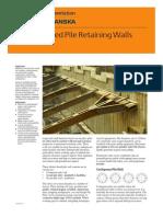 Bored Pile Retaining Walls