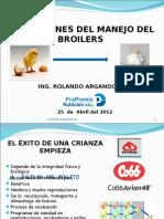 Condiciones Del Manejo Del Broilers 25-04-2012