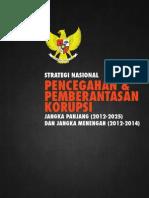 Strategi Nasional Pencegahan dan Pemberantasan Korupsi Jangka Panjang dan Jangka Menengah