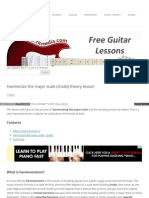 Harmonize Major Scale Triads