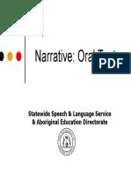 Narrative Oral Texts