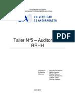 Taller 5 Auditoria