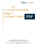 CPA Prep Module 5 Financial Accounting Week 9 In-Class Problems