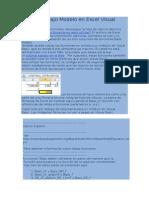 Funciones Bajo Modelo en Excel Visual Basic